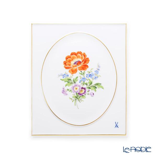マイセン(Meissen) ベーシックフラワー 三つ花(ラナンキュラス) 陶板 25×20cm 060110/53n31/20