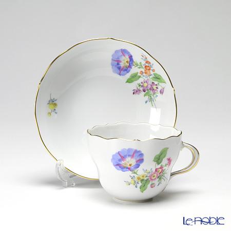 マイセン(Meissen) ベーシックフラワー(三つ花) 060110/00582/06コーヒーカップ&ソーサー 200cc Motiv No.6 ヒルガオ