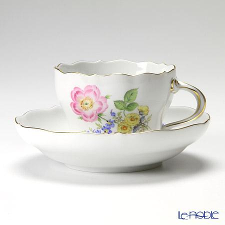 マイセン(Meissen) ベーシックフラワー(三つ花) 060110/00582/13 コーヒーカップ&ソーサー 200cc Motiv No.13 野バラ