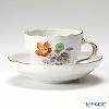 Meissen (Meissen) basic flower (3 flowers) 060110 00582/18 Coffee Cup & Saucer 200 cc Motiv number18 Nasturtium