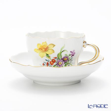 マイセン(Meissen) ベーシックフラワー(三つ花) 060110/00582/26 コーヒーカップ&ソーサー 200cc Motiv No.26 スイセン
