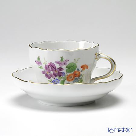 マイセン(Meissen) ベーシックフラワー(三つ花) 060110/00582/34 コーヒーカップ&ソーサー 200cc Motiv No.34 スミレ