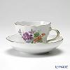 マイセン(Meissen) ベーシックフラワー(三つ花) 060110/00582/34コーヒーカップ&ソーサー 200cc Motiv No.34 スミレ