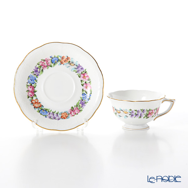 Herend 'Garland' GDF 00735-0-00 Tea Cup & Saucer