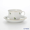 Augarten 'Scattered Vine (Grape) Leaves' [Schubert shape] Coffee Cup & Saucer 200ml