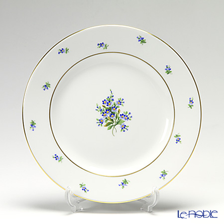 Augarten 'Forget-Me-Not' [Schubert shape] Plate 19cm
