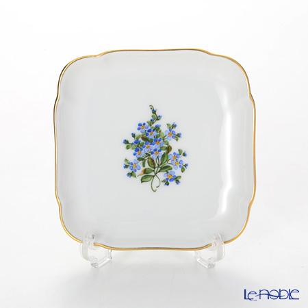 Augarten 'Forget-Me-Not' Square Dish 9x9cm