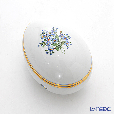 Augarten 'Forget-Me-Not' Lying Egg Box H5.5cm
