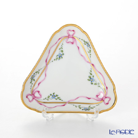 Augarten Biedermeier Ribbon Triangle Dish 10.4 cm, 6793