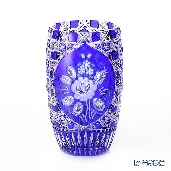 マイセン(Meissen) マイセンクリスタル LF/2/26B 花瓶(ブルー) 26cm