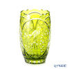 Meissen Crystal 'Owl and Flowers' Light Green BIRDS2/26LG Vase H24.5cm