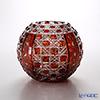 Meissen Crystal 'Flower' Red 140/18R Round Vase H15cm