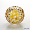 Meissen Crystal 'Flowers' Amber Yellow 140/18AB Round Vase H16.5cm