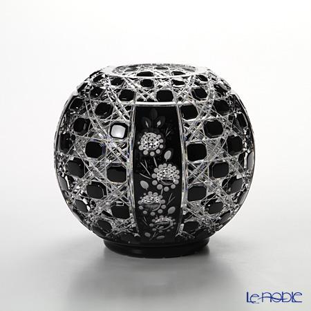 マイセン(Meissen) マイセンクリスタル 花瓶(ブラック) 15cm 140/18BK