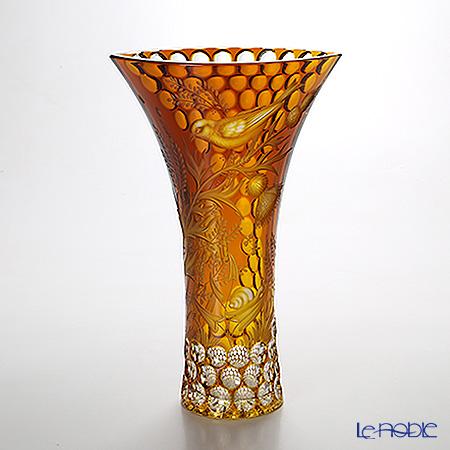 マイセン(Meissen) マイセンクリスタル 花瓶(アンバー) 30cm SOM/1473/30AB
