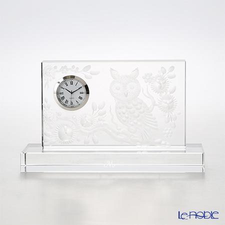Meissen Crystal 'Owl' [Motif 1] Clear Desk Clock H11cm