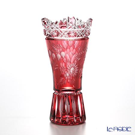 Meissen Crystal 'Flower' Red MFO/180/15R Vase H15cm