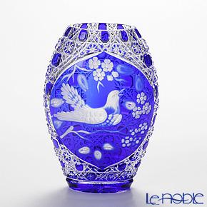 マイセン(Meissen) マイセンクリスタル 花瓶(ブルー) 20cm HUR/2283/20B