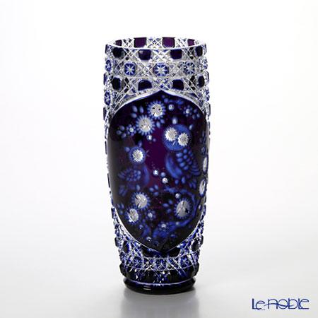 マイセン(Meissen) マイセンクリスタル 花瓶 フクロウ 3層被せ 28cm OWL/504/28aq