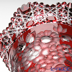 Meissen Crystal 'Flower' Red MFO/8270/35R Pedestal Vase H35.5cm