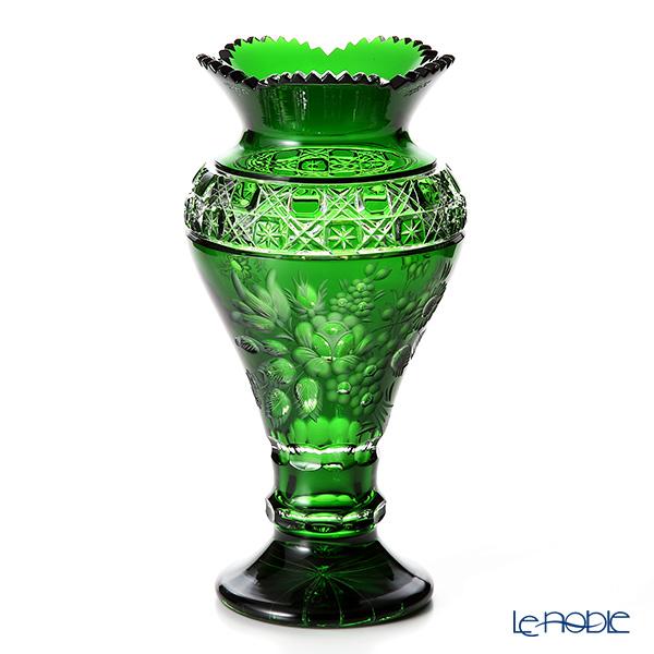 Meissen Crystal 'Flowers' Green MFO/1354/31G Pedestal Vase H32cm