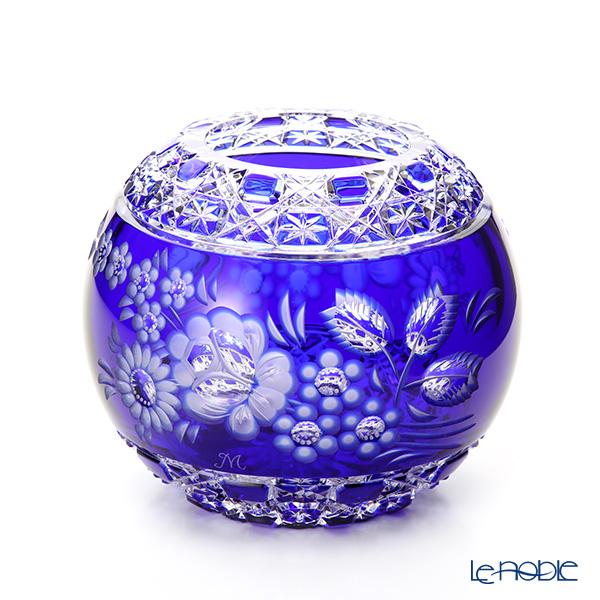 マイセン(Meissen) マイセンクリスタル MFO/140/16B 花瓶ラウンド(ブルー) 16cm