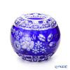 Meissen Crystal 'Flowers' Blue MFO/140/16B Round Vase H14cm