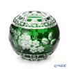マイセン(Meissen) マイセンクリスタル MFO/140/16G花瓶ラウンド(グリーン) 16cm