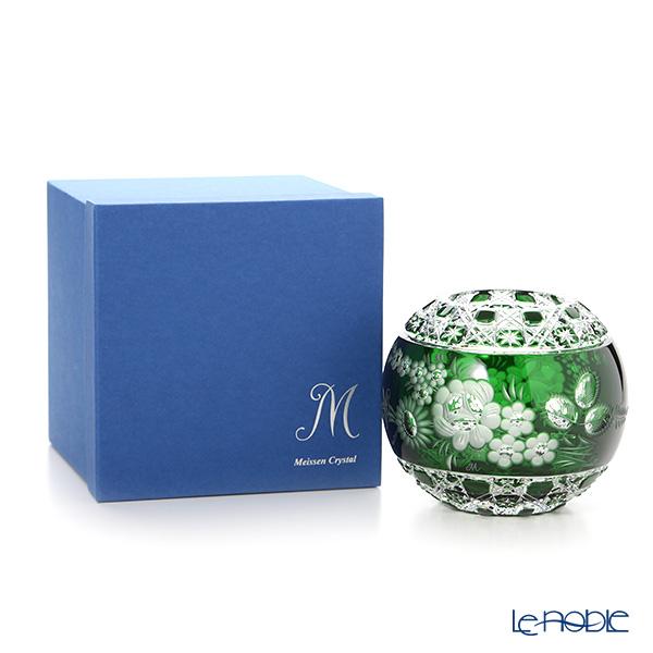Meissen Crystal 'Flowers' Green MFO/140/16G Round Vase H14cm