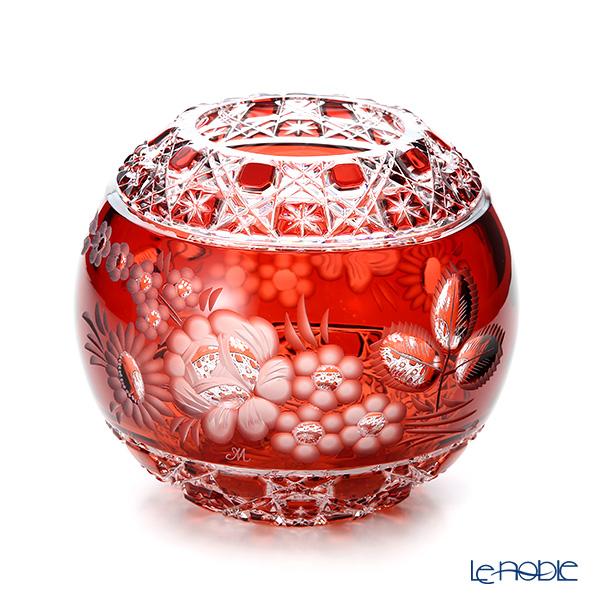 マイセン(Meissen) マイセンクリスタル MFO/140/16R 花瓶ラウンド(レッド) 16cm