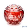 Meissen Crystal 'Flowers' Red MFO/140/16R Round Vase H14cm