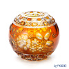 Meissen Crystal 'Flowers' Amber Yellow MFO/140/16AB Round Vase H14cm