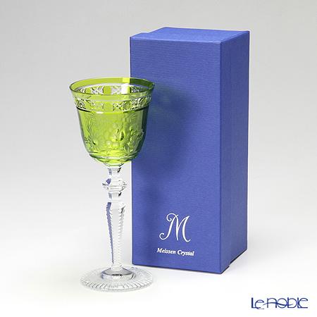Meissen Crystal 'London Flower' Light Green MFO/3517/2LG Wine Glass H21cm