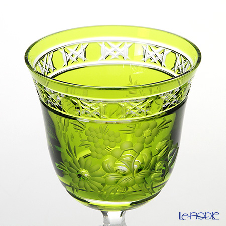 Meissen Crystal 'London Flower' Light Green MFO/3517/2LG Wine Glass H21cm