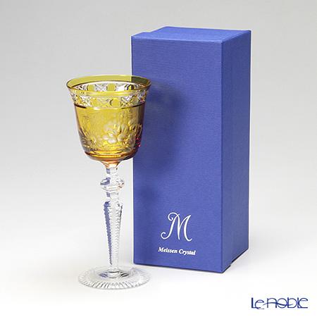マイセン(Meissen) マイセンクリスタル ロンドンフラワー ワイングラス 20.9cm(アンバー) MFO/3517/2AB
