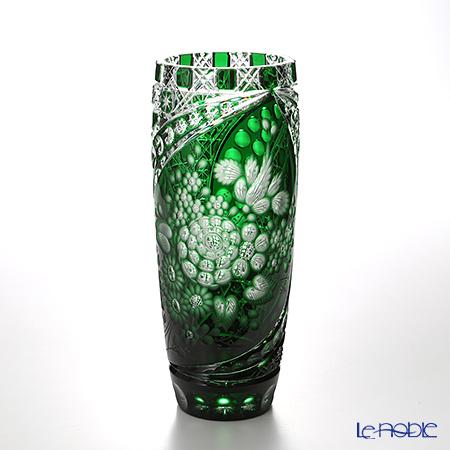 Le Noble Meissen Meissen Meissen Crystal Green Vase 28 Cm Lf 504 28 G