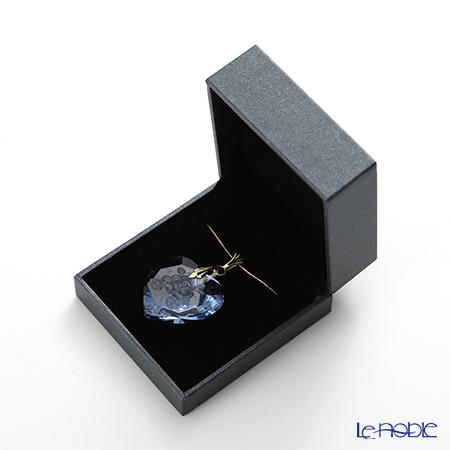Meissen Crystal 'Flower' Light Blue Pendant Top (Heart shape)