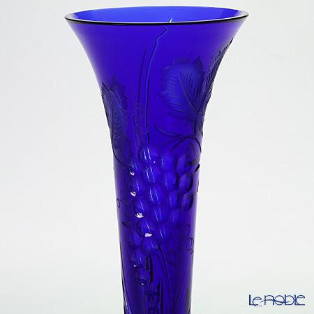 Meissen Crystal 'Wine Leaves' Blue 1024/23B Single Flower (Bud) Vase H24cm