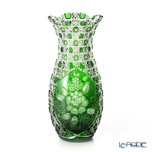 マイセン(Meissen) マイセンクリスタル LF/1127/29G 花瓶(グリーン) 29cm