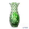 マイセン(Meissen) マイセンクリスタル LF/1127/29G花瓶(グリーン) 29cm