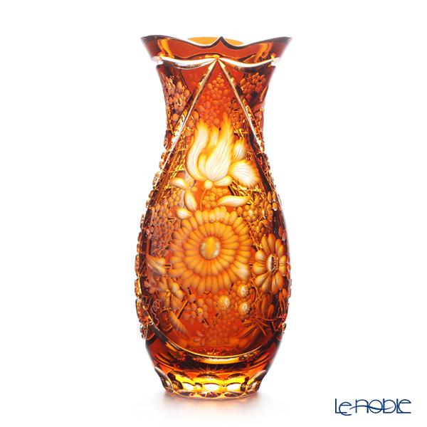 マイセン(Meissen) マイセンクリスタル SOM/1127/29AB 花瓶(アンバー) 29cm