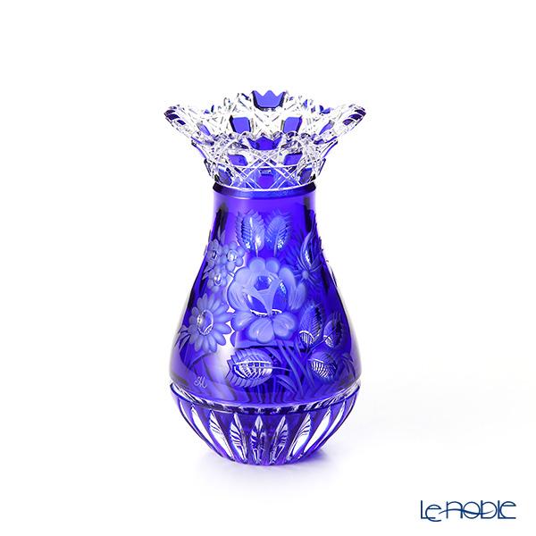 マイセン(Meissen) マイセンクリスタル MFO1420/16B 花瓶(ブルー) 16cm