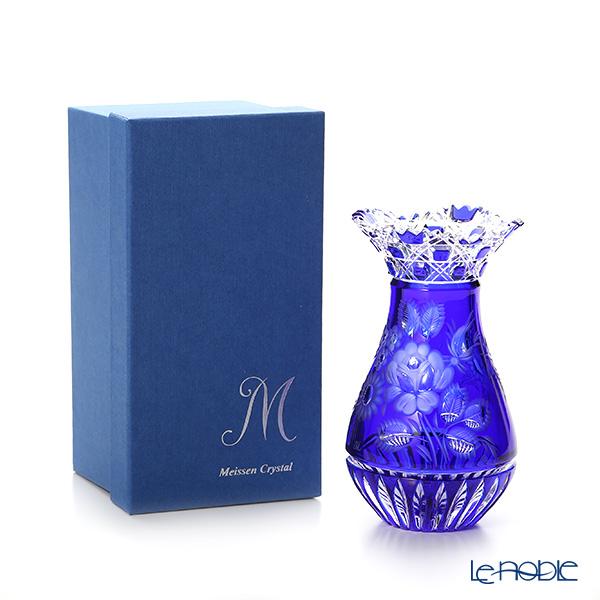 Meissen Crystal 'Flowers' Blue MFO1420/16B Vase H16cm