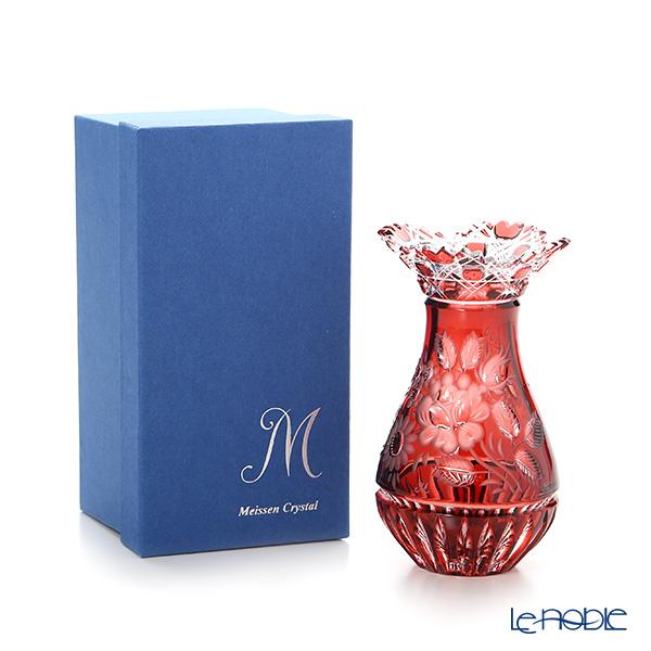 Meissen Crystal 'Flowers' Red MFO1420/16R Vase H16cm