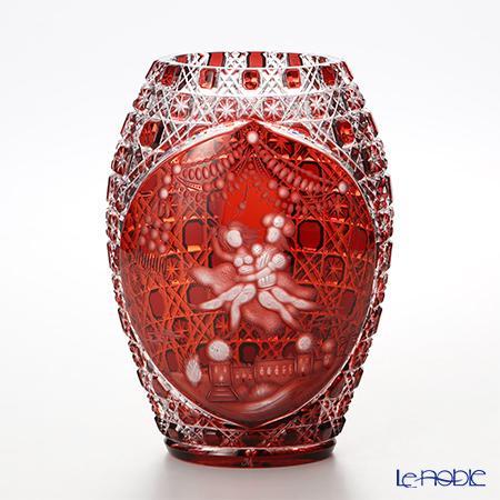 マイセン(Meissen) マイセンクリスタル アラビアンナイト花瓶(レッド) 26cm Motiv 1 2283/26R