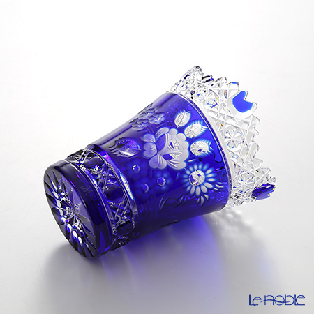 Meissen Crystal 'Flower' Blue MFO/205/10B Vase H10cm