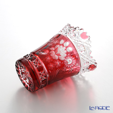 Meissen Crystal 'Flower' Red MFO/205/10R Vase H10cm