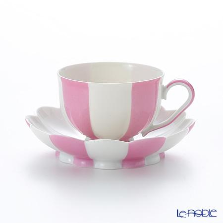 アウガルテン(AUGARTEN) メロン ピンク&ホワイト(7021)モカカップ&ソーサー 0.05L(015)