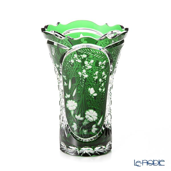 マイセン(Meissen) マイセンクリスタル SOM205/26G 花瓶 藤(グリーン) 26cm