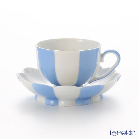 アウガルテン(AUGARTEN) メロン ライトブルー&ホワイト(7022) モカカップ&ソーサー 0.05L(015)